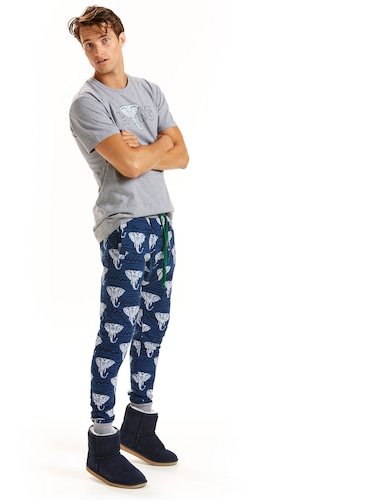 Mens Elephant Drop Crotch Pj Pant