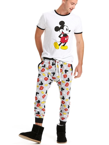 Mens Mickey Icons Fleece Jogger