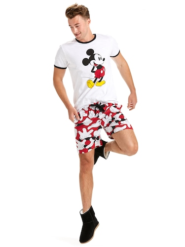 Mens Mickey Hands Mid Short