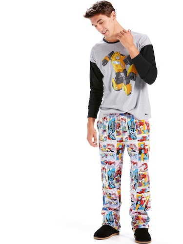 Mens Transformers Comic Classic Pj Pant