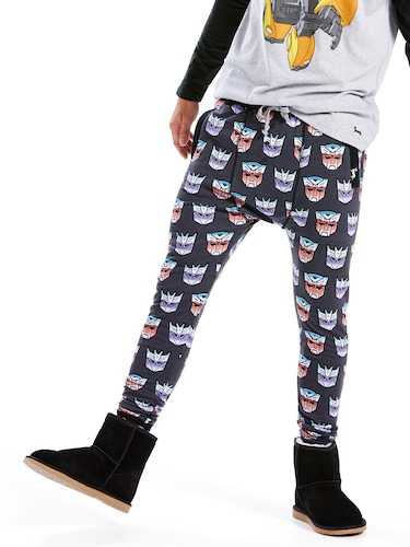 Mens Transformers Icon Drop Crotch Pj Pant