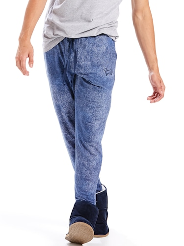 Mens Denim Look Fleece Jogger