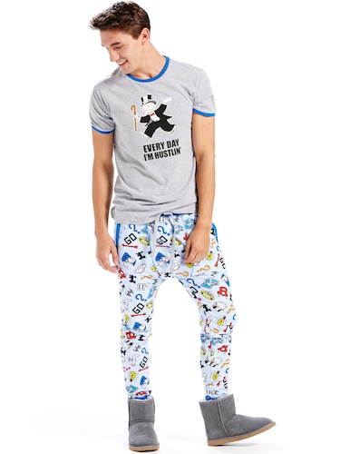 Mens Monopoly Fleece Pj Pant