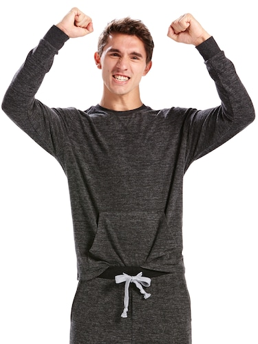 Mens Charcoal Heather Sweater