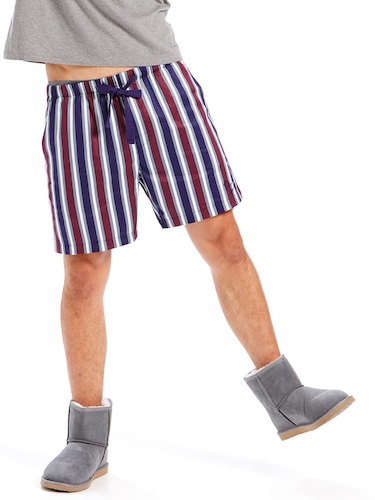 Mens Plum Mid Short