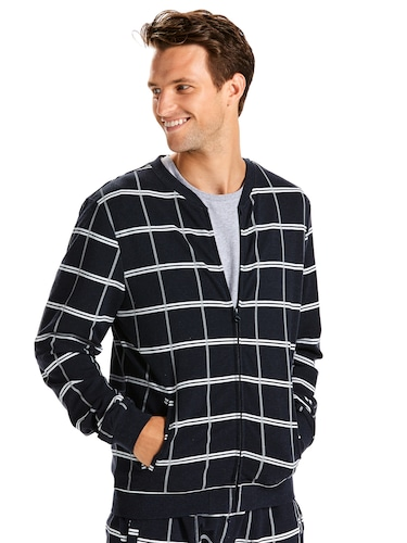 Mens Windowpane Bomber Jacket