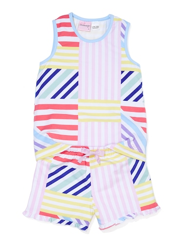 Jnr Girls Multi Stripe Pj Set
