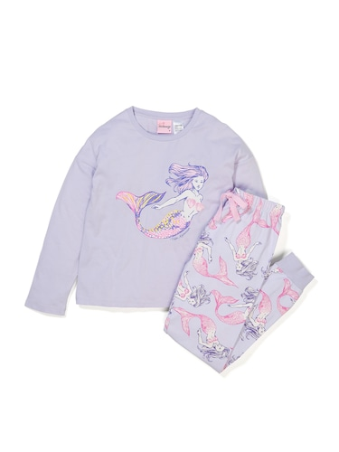 Girls Mermaids Pj Set