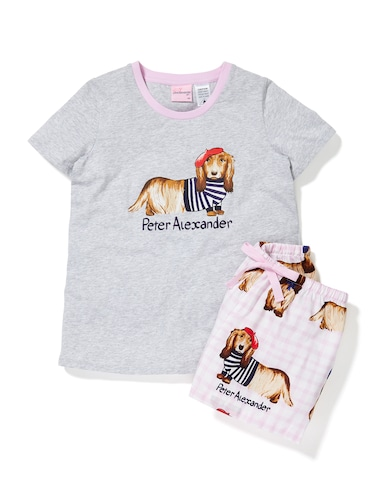 Girls French Penny Shortie Pj Set