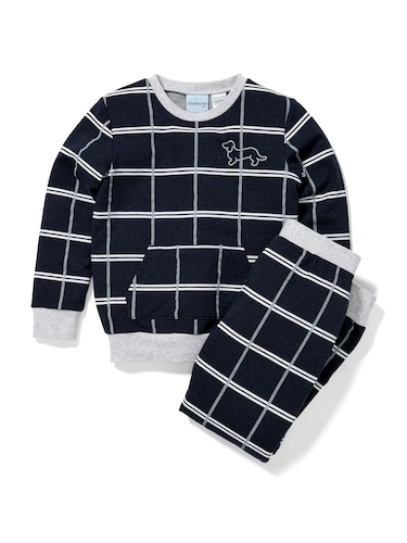 Jnr Boys Windowpane Pj Set
