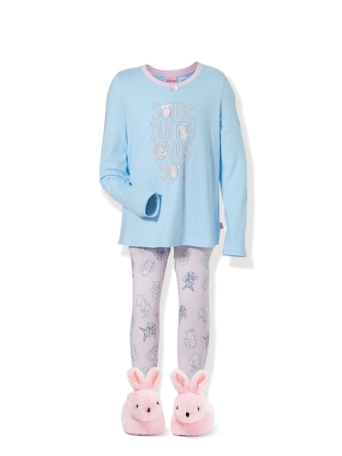 Girls Some Bunny Pj Set