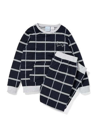 Boys Windowpane Pj Set