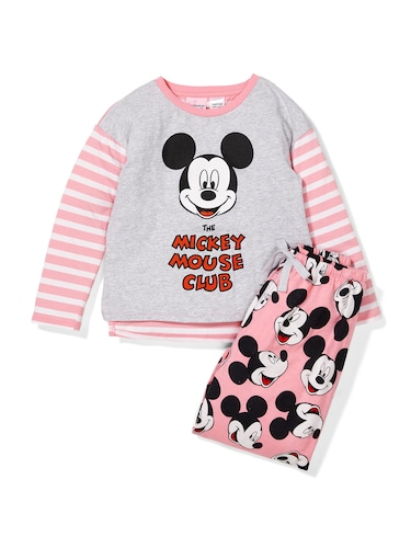 Jnr Girls Mickey Mouse Club Pj Set