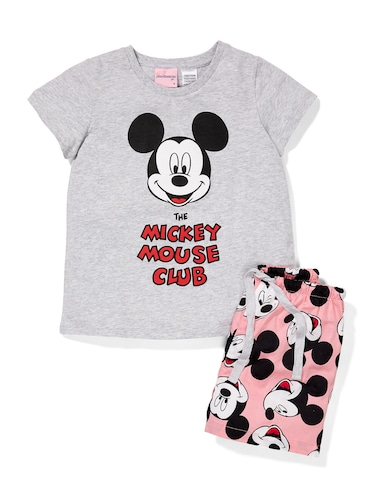 Jnr Girls Mickey Mouse Club Shorts Pj Set