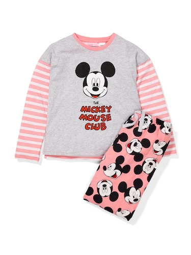 Girls Mickey Mouse Club Flannelette Pj Set