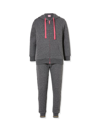 P.A. Play Girls Quilted Marle Hoodie