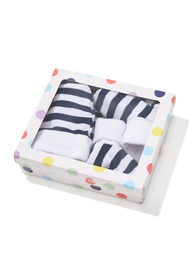 Baby Stripe Beanie & Booties Gift Pack