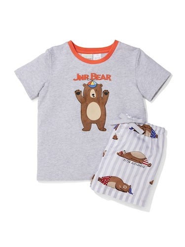 Jnr Boys Bear Short Pj Set