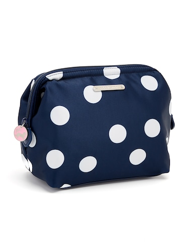 Navy Spot Clutch Cos Bag