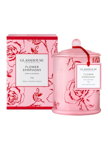 Glasshouse Fragrances Limited Edition Flower Symphony Candle 350G