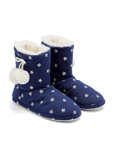 Ladies Furry Star Boots
