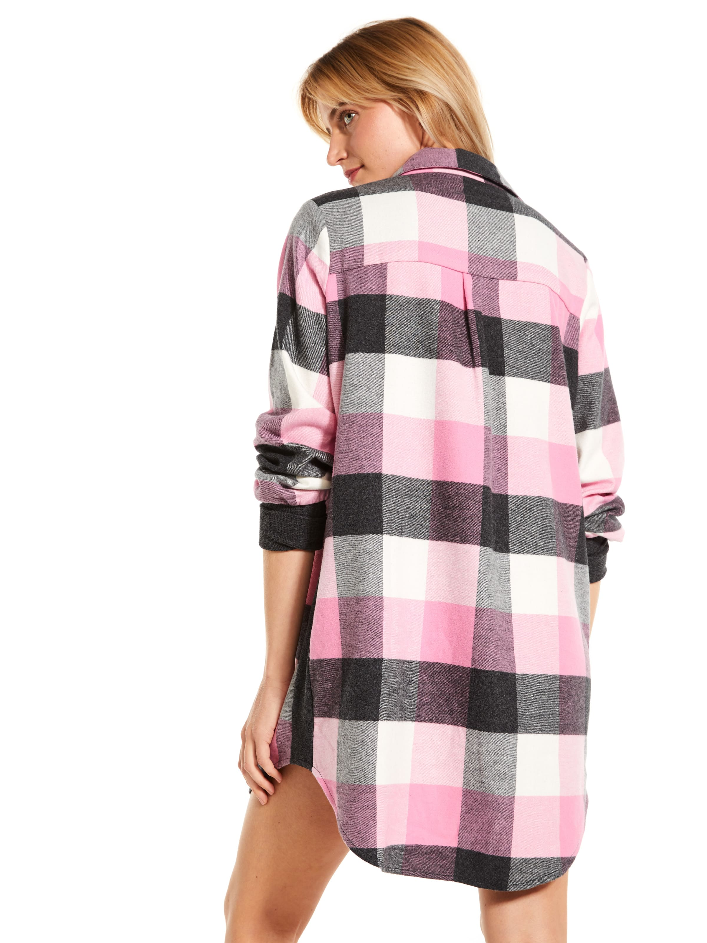 Charcoal Buffalo Check Flannelette Nightshirt