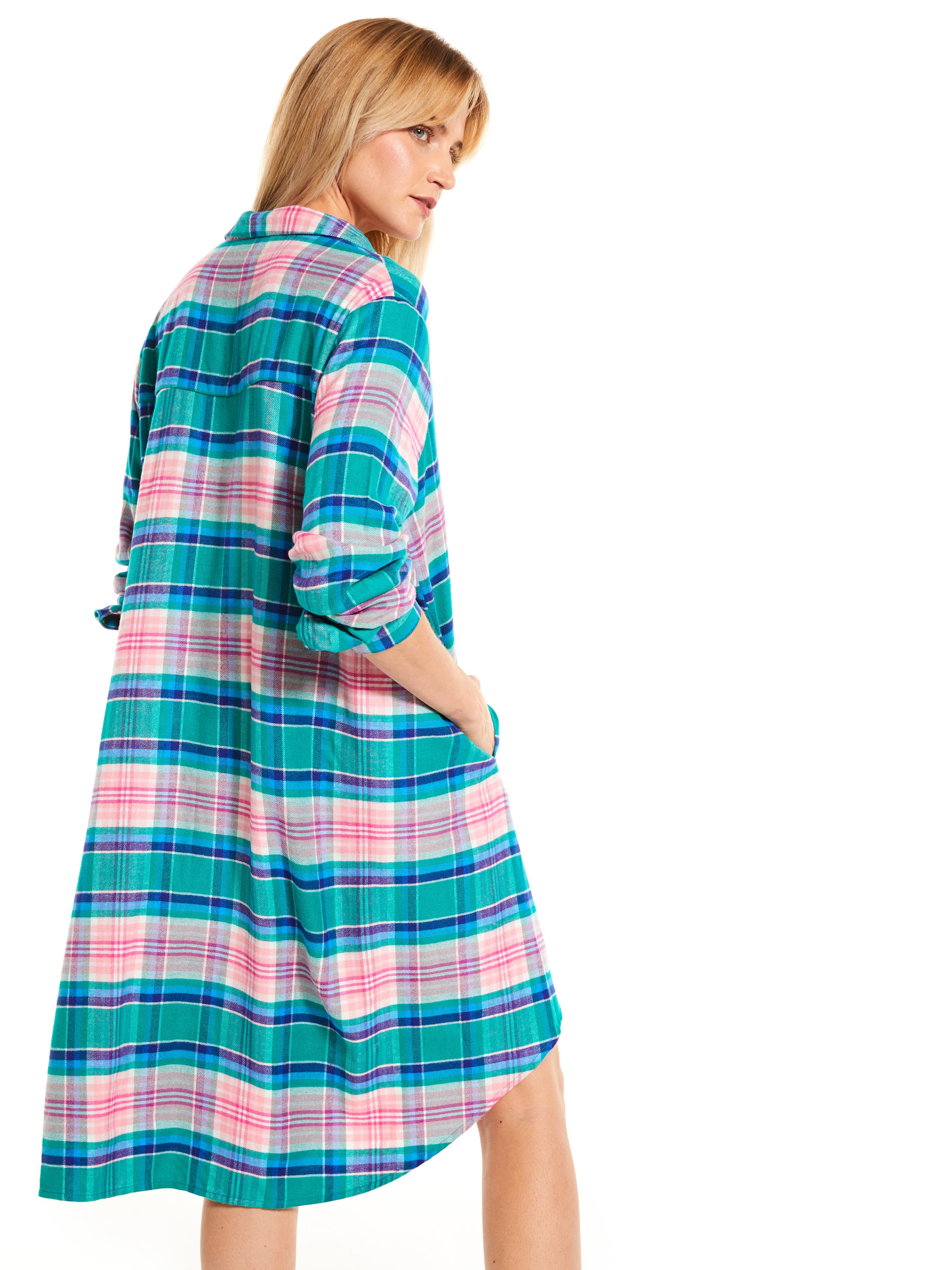 Woodlands Check Flannelette Nightshirt