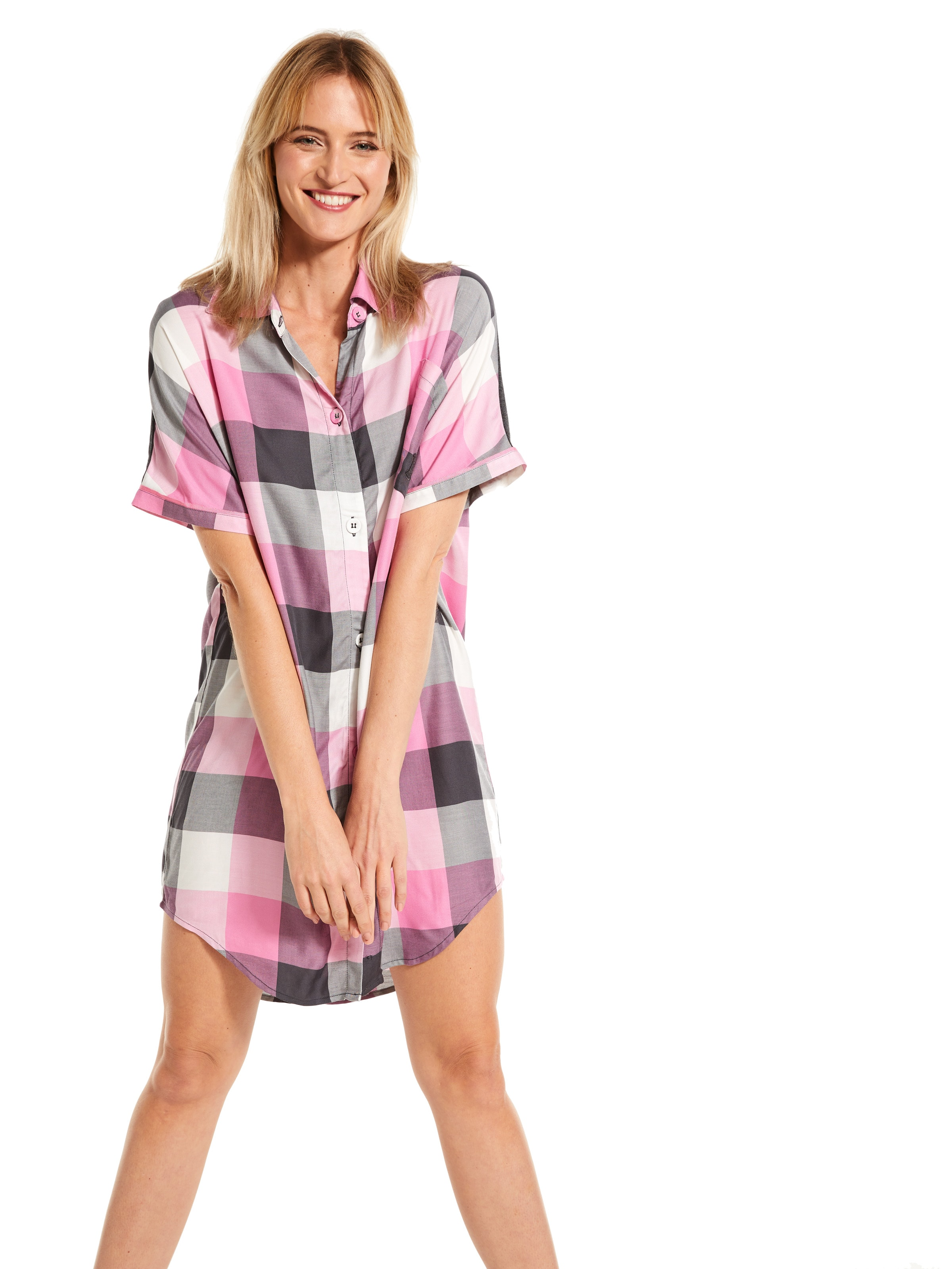 Charcoal Buffalo Check Nightshirt