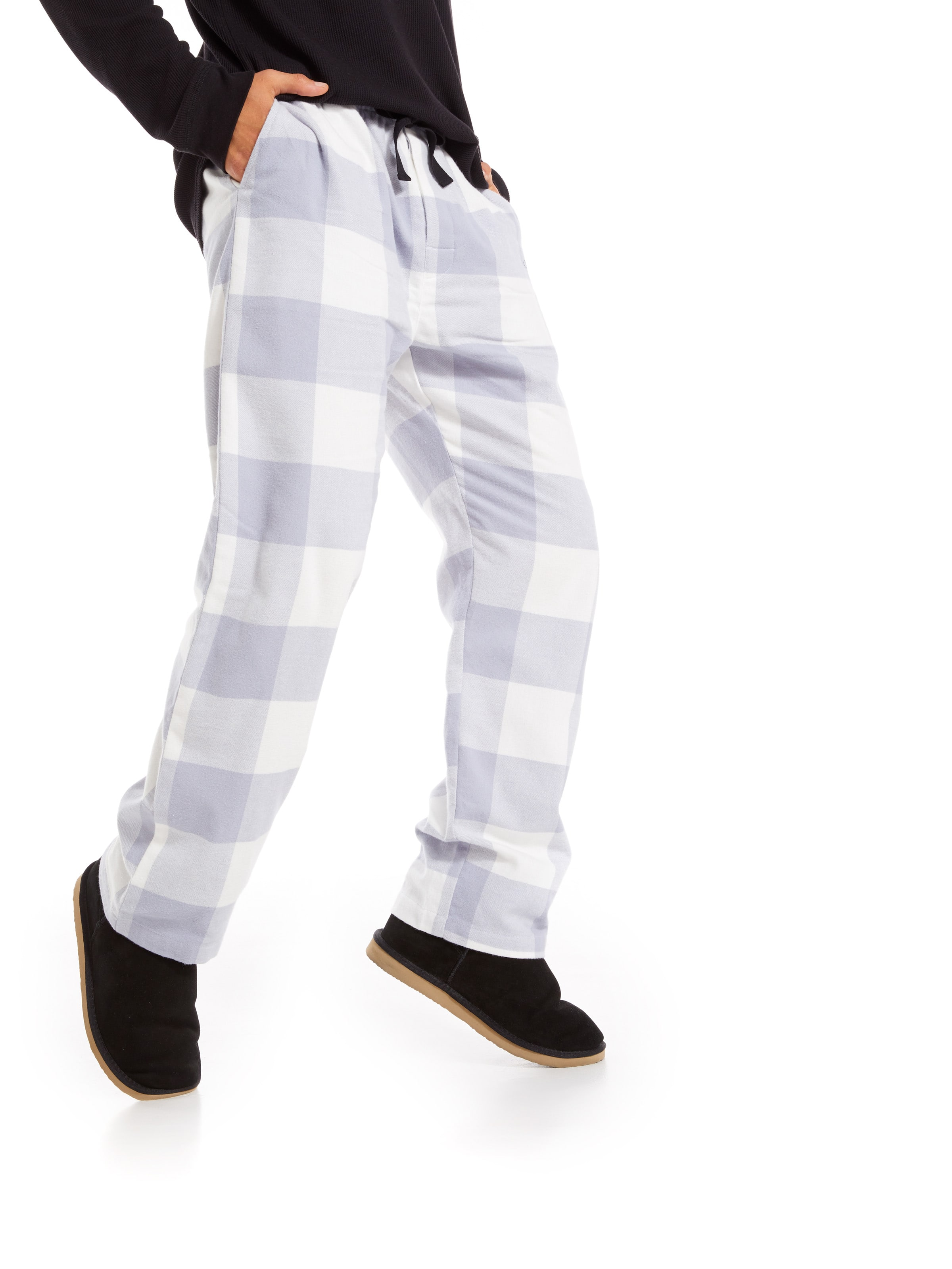 Grey Gingham Flannelette Classic Pj Pant