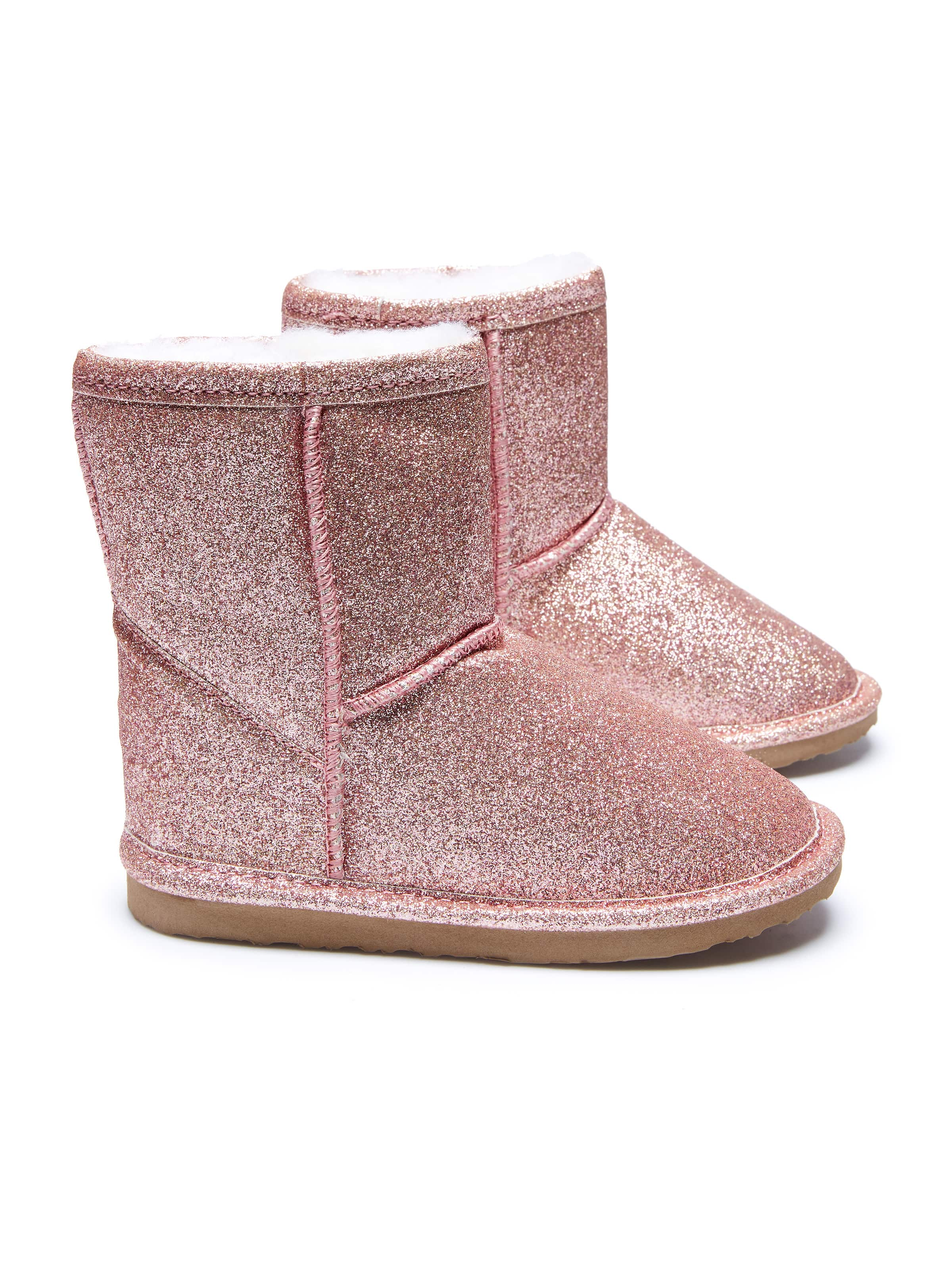 Kids Limited Edition Rose Gold Glitter Homeboots