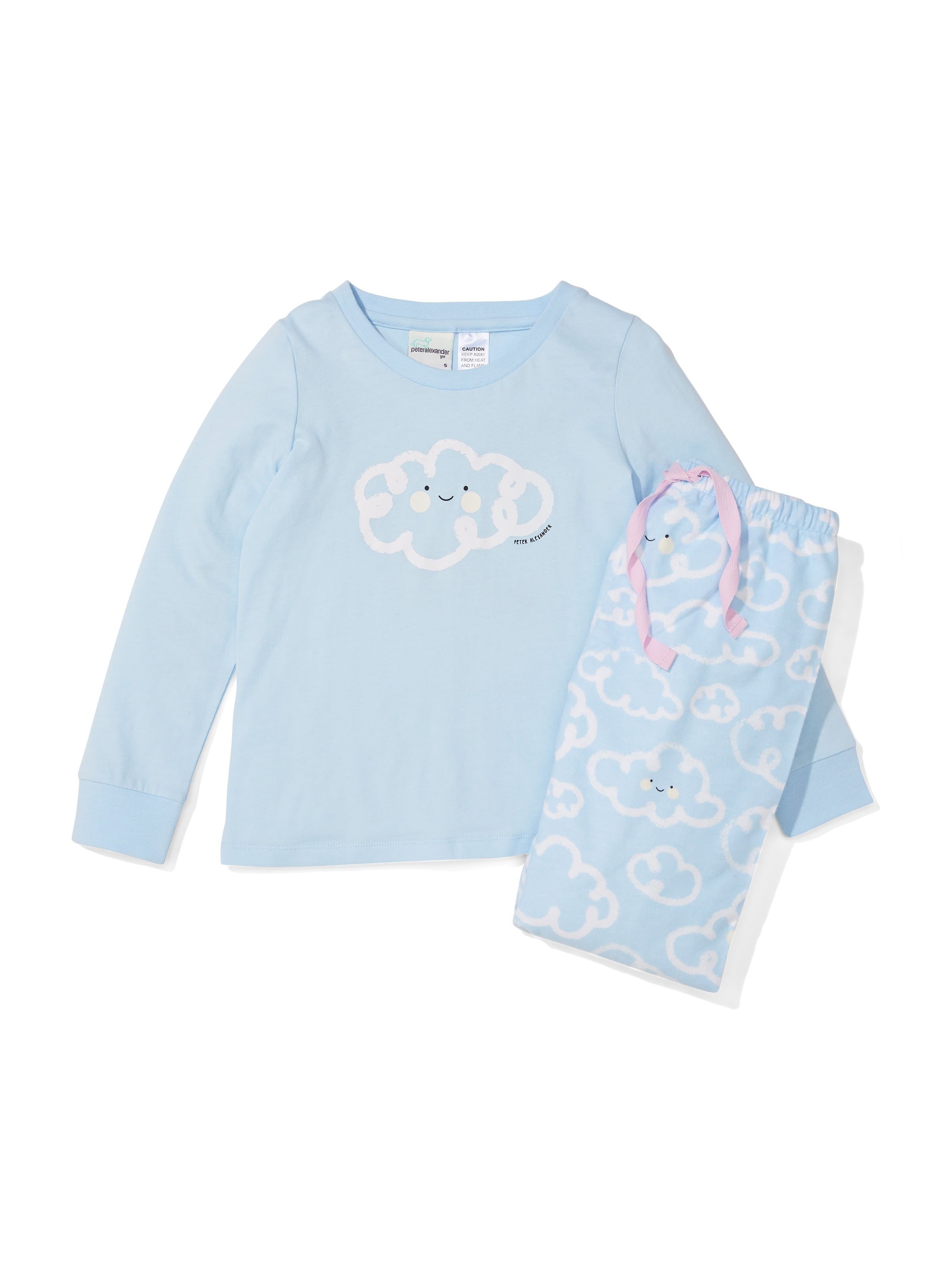 Jnr Girls Cloud Flannelette Pj Set