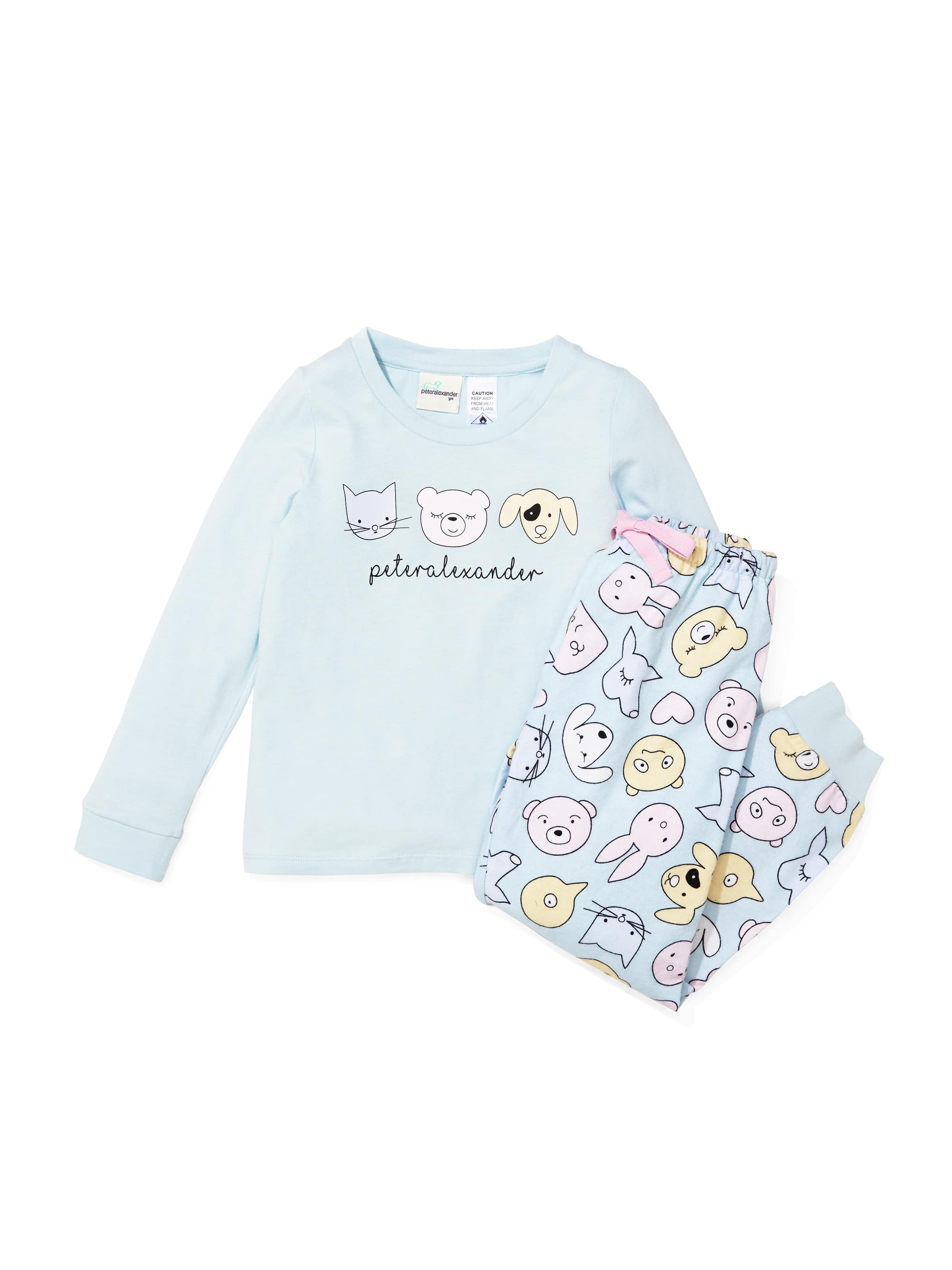 Jnr Girls Cute Animal Flannelette Pj Set