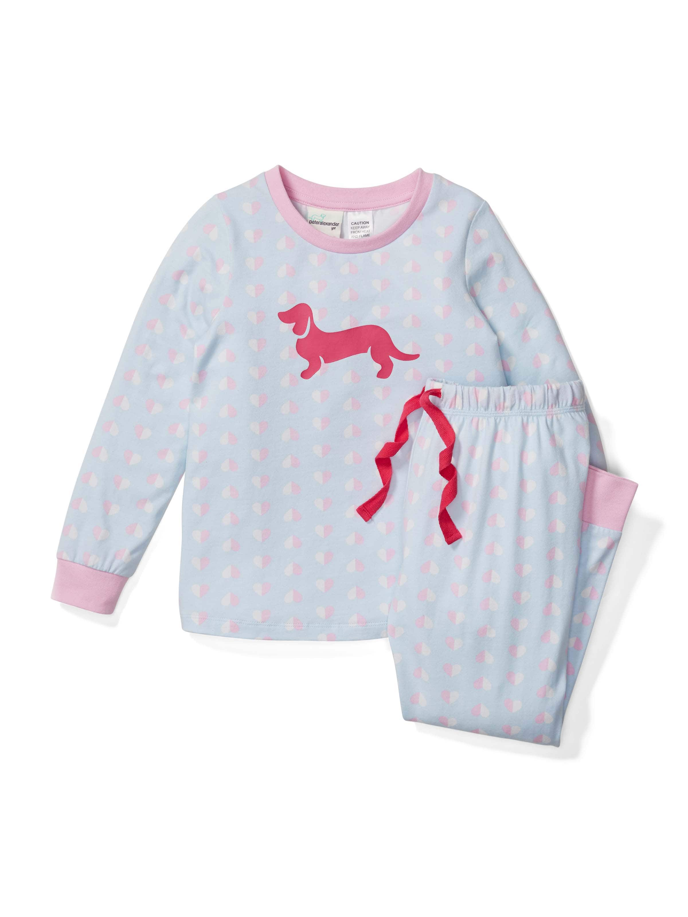 Girls Pastel Heart Pj Set