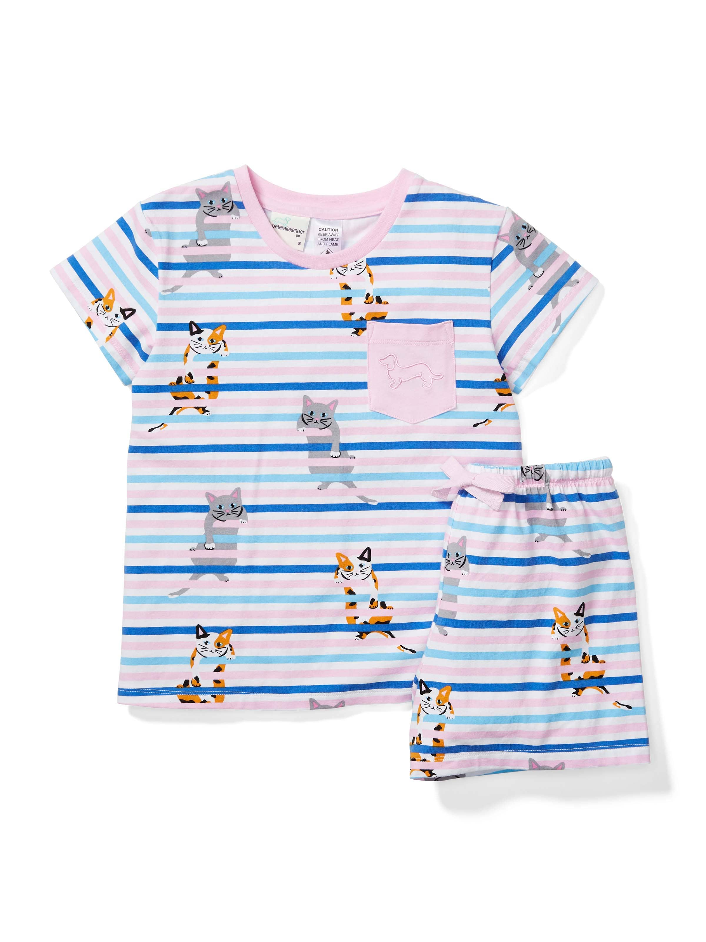 Jnr Girls Kitty Short Pj Set