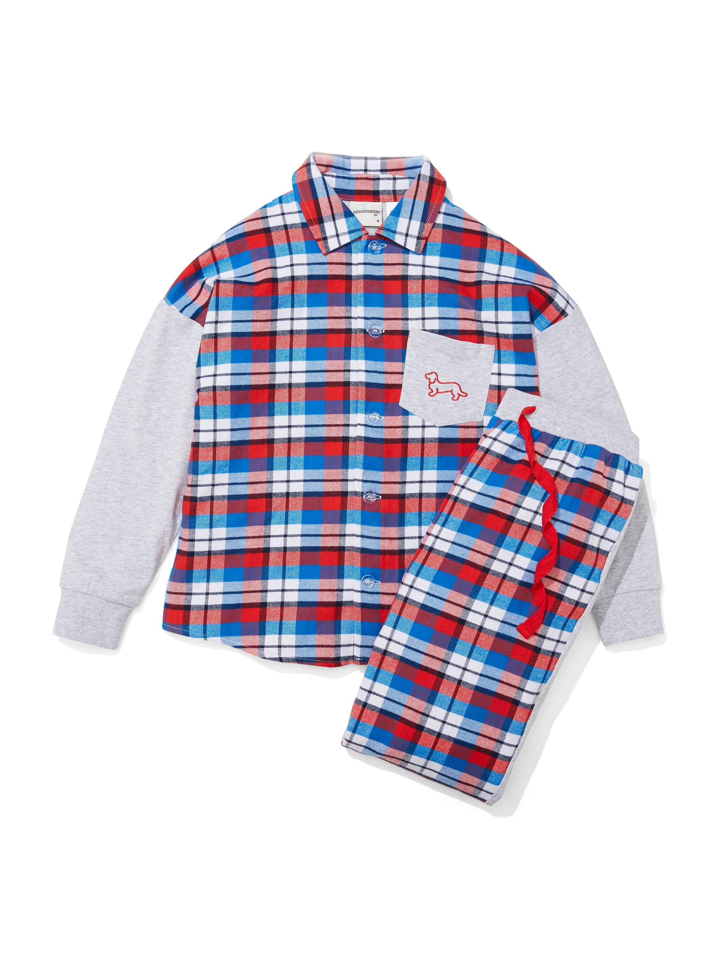 Kids Check Flannelette Pj Set