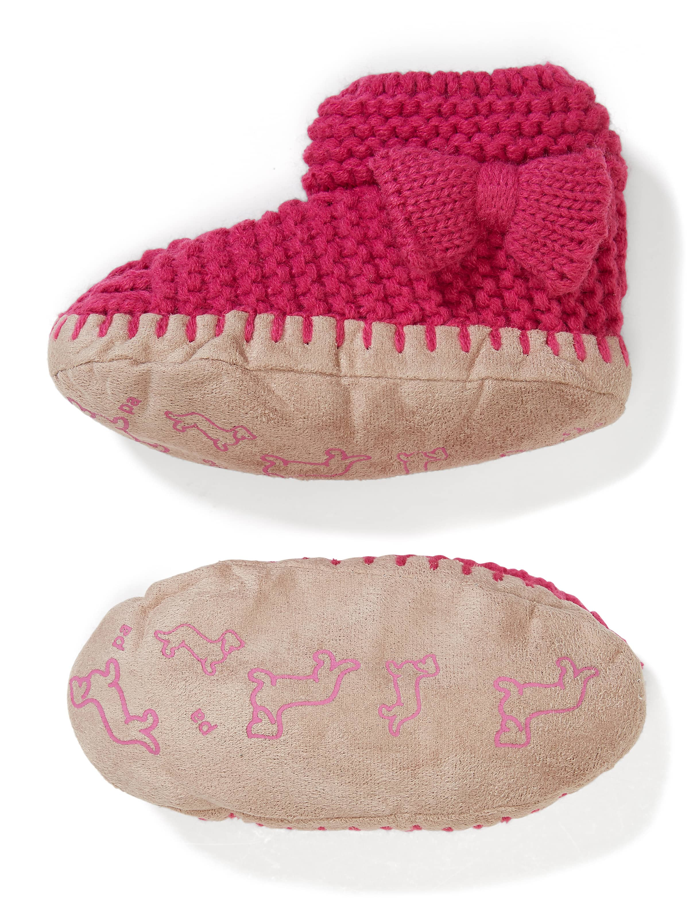 Kids Bow Knit Bootie Sock