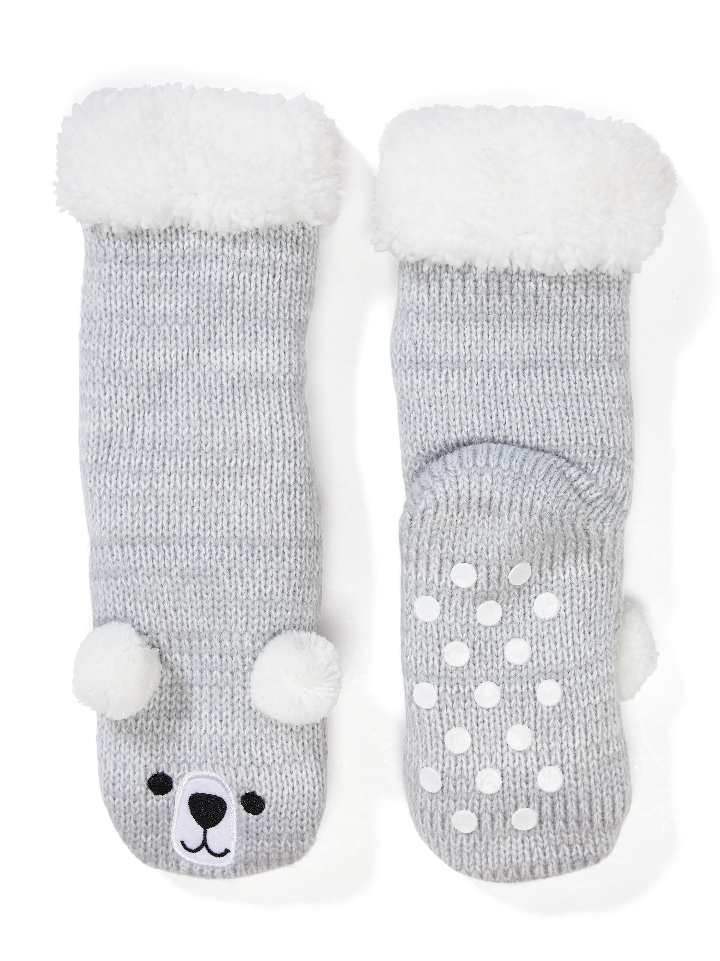Kids Fluffy Bear Sock