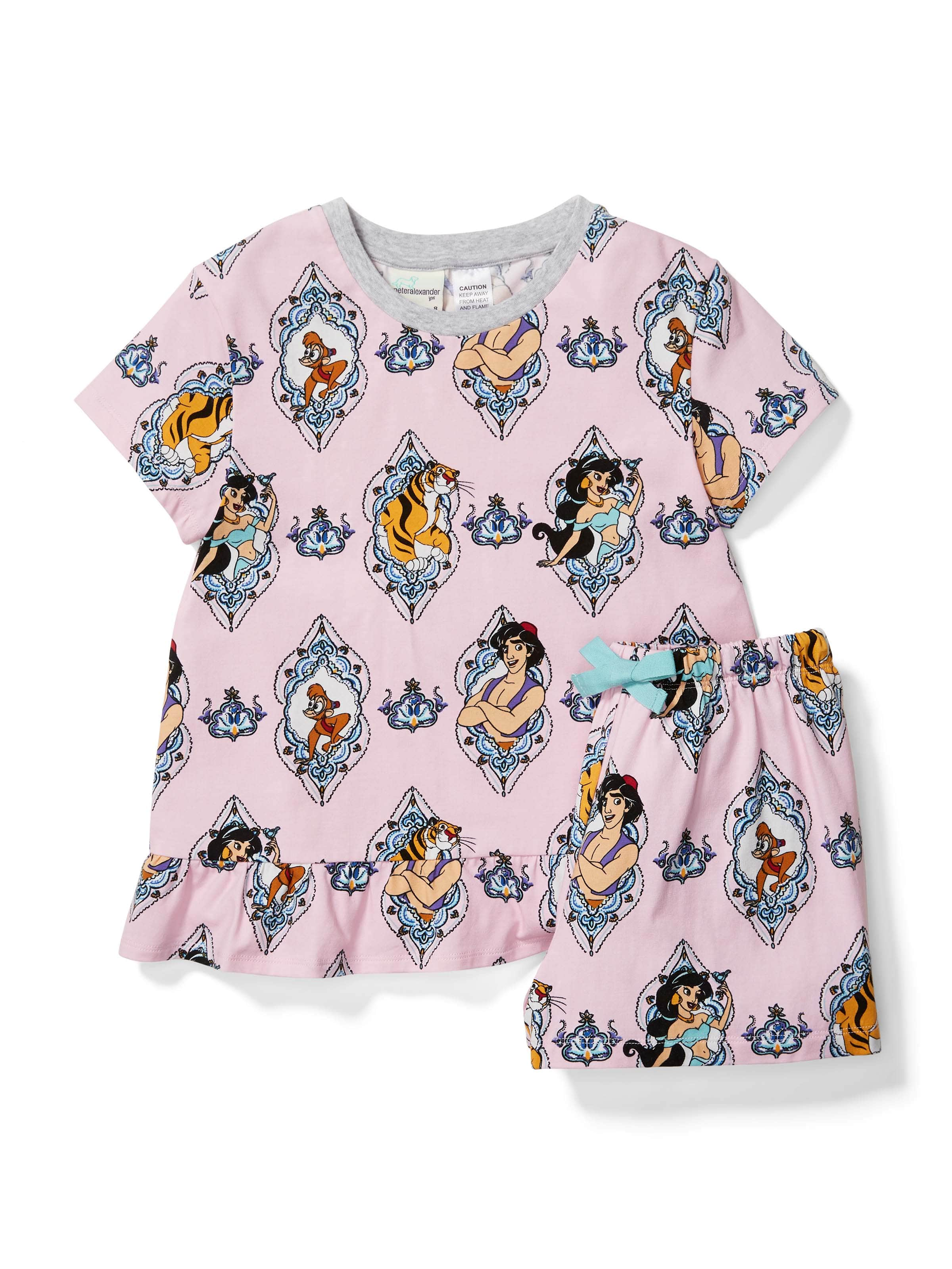 Girls Aladdin Short Pj Set
